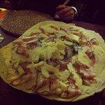 Pane Carasau with Pecorino Cheese and Pancetta