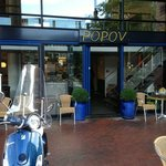 Entrance of Popov restaurant
