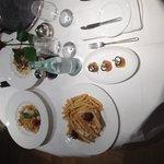 Evening dinner room service
