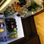 Mini bar. Soft drinks and water complimentary.