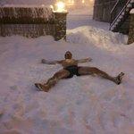 Refrigerio entre la sauna y la piscina