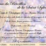 Menu du  Réveillon 2014