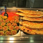 Stuffed peppers and pide
