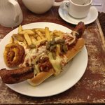 Fully loaded chilli dog