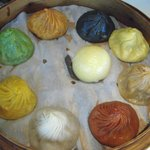 The best tasting is the black truffle flavored pork shao lum bao