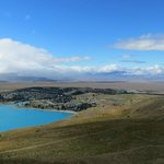 The top of Lake Tekapo