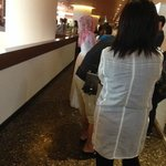 Queuing for breakfast at EDGE restaurant. It took 15-20 minutes