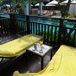 Our private deck with private access to pool