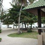 вид на бар и пляж