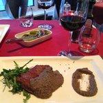 steak with truffle sauce (just OK)