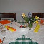 tavolo preparato per Pasqua