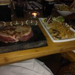 Most fabulous fillet steak at The Sizzling Stone