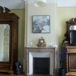 Huge armoire and antique fireplace