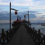 Bridge to diving station