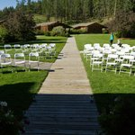 Beautiful area for a wedding.  In front of the lodge
