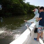 My Son and Cap Juan Carlos Torruella 1st Fishing trip