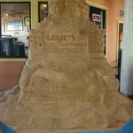 Sand castle at entrance