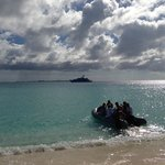Transportation back to the boat from Anguilla