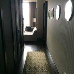 Hallway from door to living room