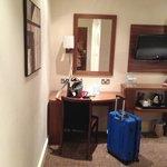 Room 402 - desk & TV