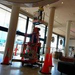 Lobby e restaurante em obras