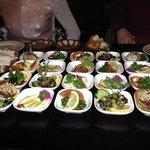 Vores forret bestod af libanesiske tapas - virkelig lækkert.