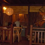 Downstairs of lumbung at night