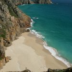 Porthcurno beach near the Minack Theatre - 10mins drive