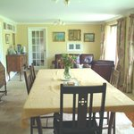 The dining room/living room