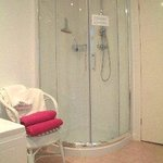 The shower in the twin room's en suite