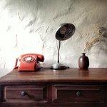A home-y desk in a home-y room