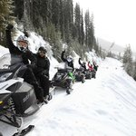 Fun times out on a snowmobile with your friends!