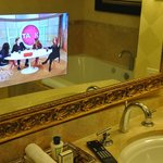 TV in the mirror