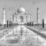 Try black & white remember the Taj is white marble