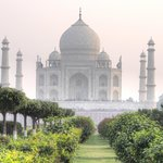 Go across the river to Moon Garden for a unique view of the Taj