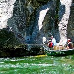 fly fishing ledges for cutthroat on Middle Fk. Salmon River