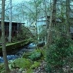 Creekside cabin (left), Mill on right