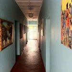 Amazing paintings in the corridor