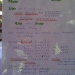 Informações da pousda (horários de traslado, táxis, serviços...)