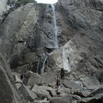 Lower Yosemite Falls is a trickle this year.