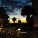 Sunset from Inn entrance.