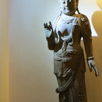 Buddha statue in the corridor