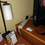Hotel's idea of power strip fix