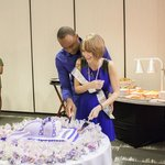 Ahsha Marie Baby Shower - cake cutting
