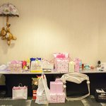 Ahsha Marie Baby Shower - gift table