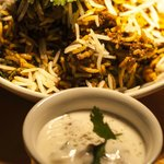 Lamb Biryani and Raita