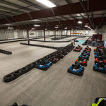 The indoor kart track