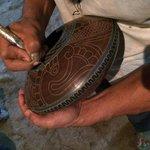 Pottery demonstration.