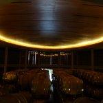 interior of wine cellar