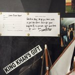 Sharukh Khan's comments framed on the wall during shooting of Chennai Express